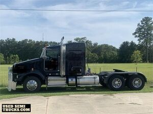 Fully Deleted 2015 Kenworth T800 Midroof Sleeper Cab Semi Truck.