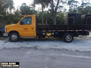 Road Ready 2010 Ford E450 14' Flatbed Diesel Truck Shape.
