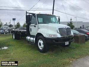 Used 2014 International Durastar 4300 24' Flatbed Truck 4366 AT.