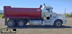 2000 Peterbilt Dump Truck Cummins N-14 with a Transfer Trailer.