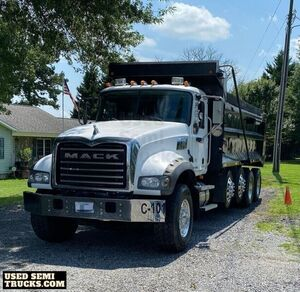 2007 Mack Granite CTP713 Quad-Axle Dump Truck MP7 Engine.